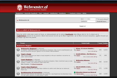 Webmaster.al, vendtakimi i webmasterave shqiptarë online
