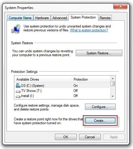 """Ja pse dhe si të krijoni një """"System Restore Point"""" në Windows 7"""