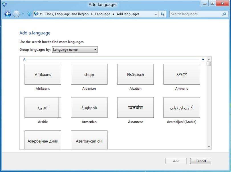 Windows 8 do të mbështesë 109 gjuhë