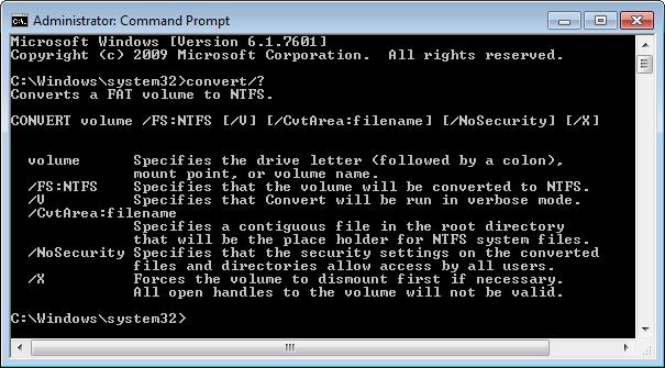 Ja se si të shndërroni një disk nga FAT32 në NTFS