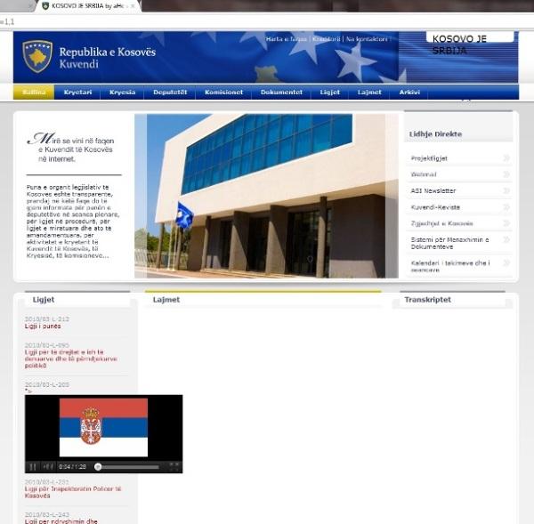 Kuvendi i Kosovës, caku i radhës i hakerëve serb