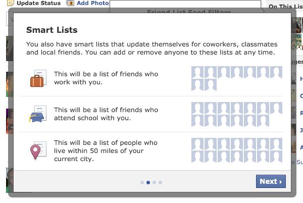 Facebook fillon grupimin automatik të shokëve