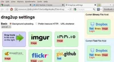 Ngarkoni në shumë faqe, vetëm duke vendosur skedarët, në Firefox