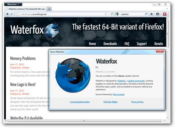Waterfox – Firefoxi më i shpejtë për 64 bit
