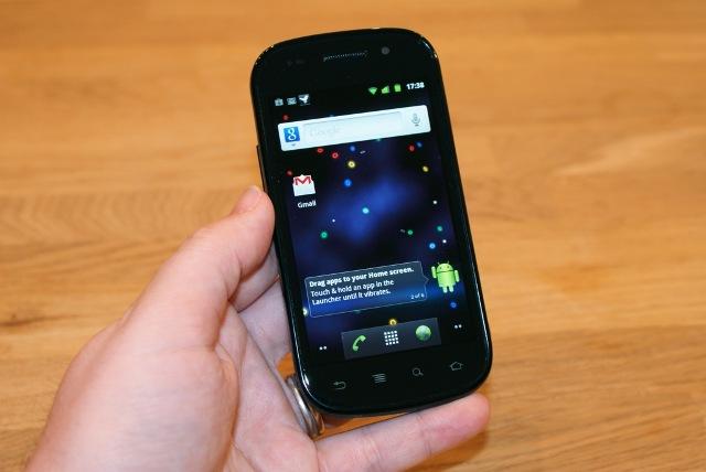 Google shpalos celularin Nexus S