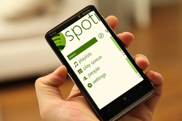 Spotify debuton në Windows Phone