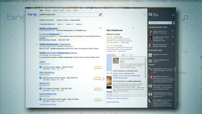 Bing me rezultate edhe nga Facebook dhe Twitter