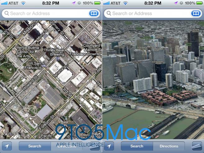 Lamtumirë Google, iOS me hartën 3D
