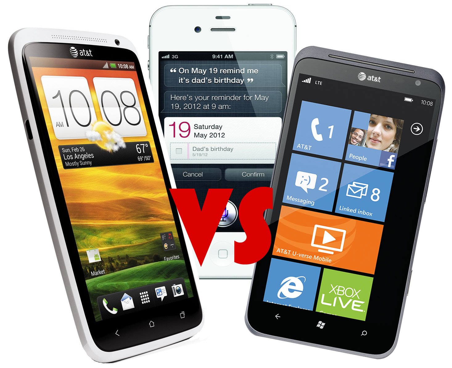 Apple iOS 6 vs. Android vs. Windows Phone