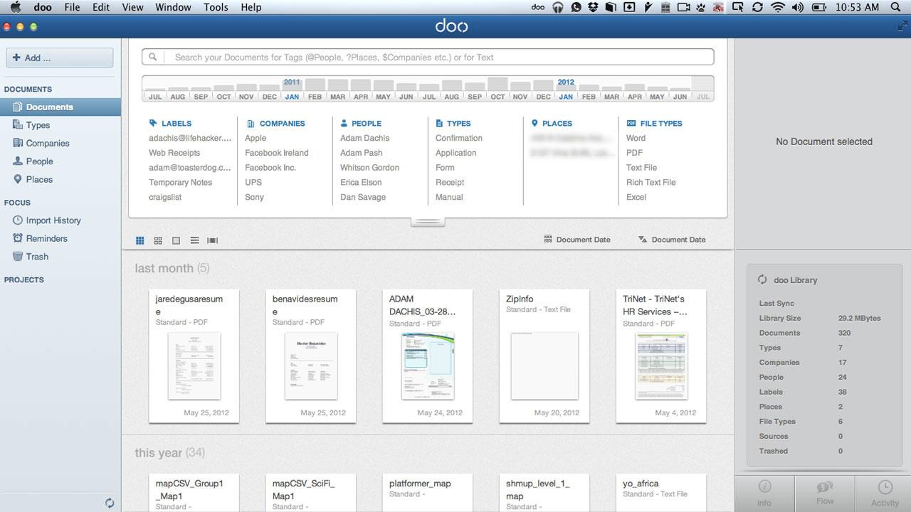 Doo organizon dhe sinkronizon dokumentet tuaja