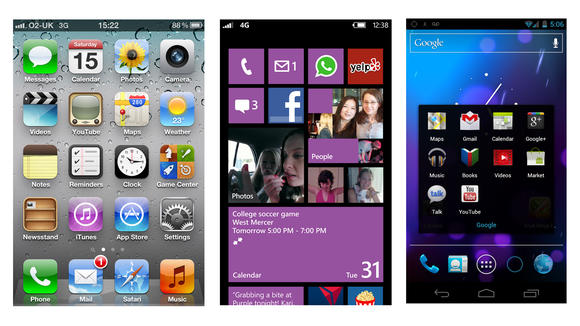 Windows Phone 8 vs Android 4.0 vs iOS 6