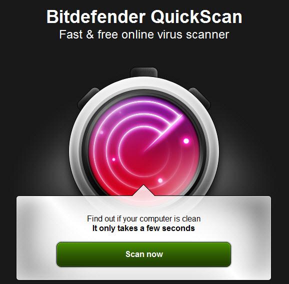 BitDefender QuickScan – Metodë e shpejt për të skanuar kompjuterin