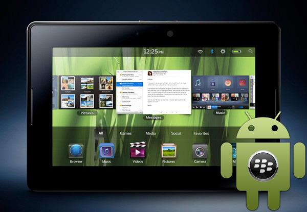Azhurnimi i BlackBerry PlayBook përmirëson përshtatjen me Android
