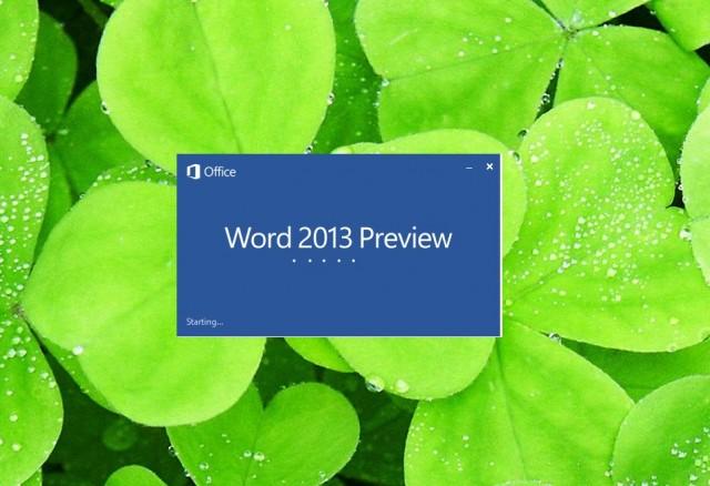 Vëzhgim aplikacionit Word 2013