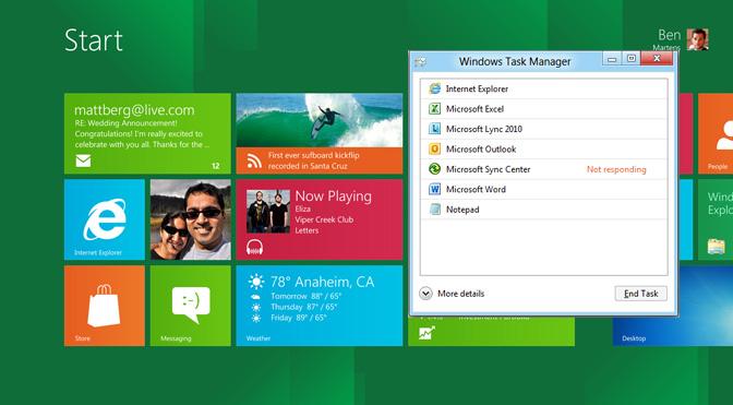 Task Manager në Windows 8 ofron më shumë veçori