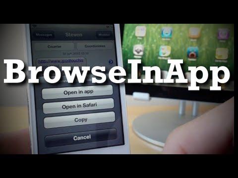 BrowseInApp, mini shfletuesi për çdo aplikacion të iPhone
