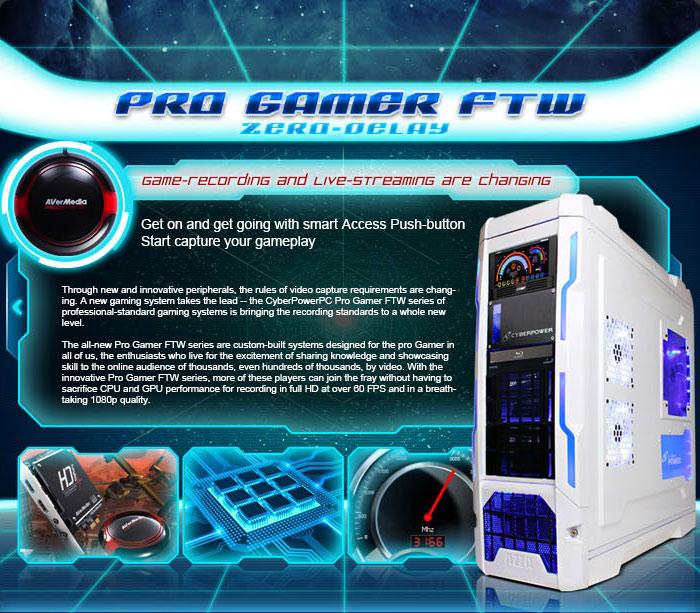 CyberPower Pro Gamer FTW Series sjell HD Streaming në fushën e LAN