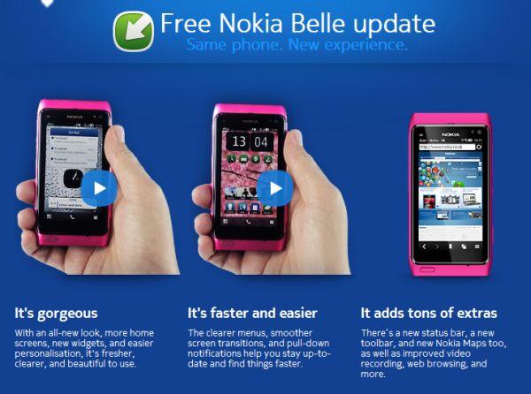 Azhornimi Belle Refresh për Nokia N8, E7, C7, X7…