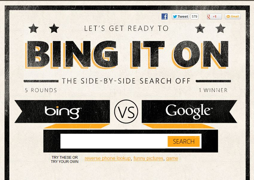 "Microsoft sfidon Google me fushatën ""Bing It On"""