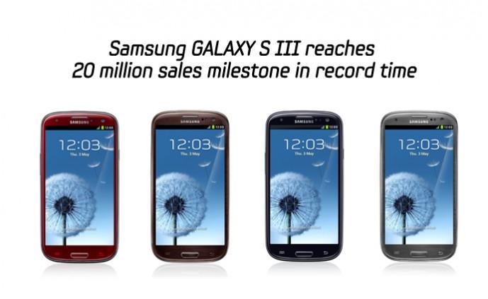 20 milionë Samsung Galaxy S3 të shitur për 100 ditë