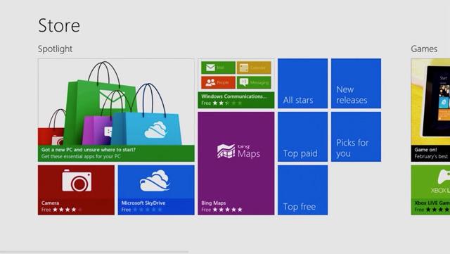2371 aplikacione jo zyrtare për Windows 8