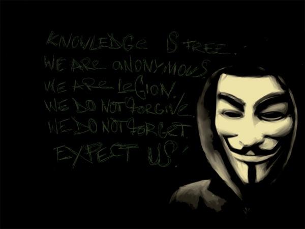 Anonymous godet një uebfaqe të qeverisë amerikane