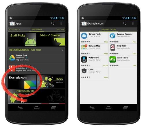 Google Play iu mundëson bizneseve që të mbajnë aplikacionet e tyre