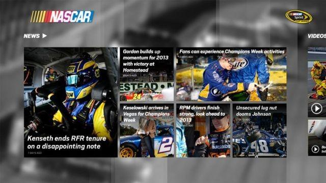 Del zyrtarisht aplikacioni NASCAR për Windows 8