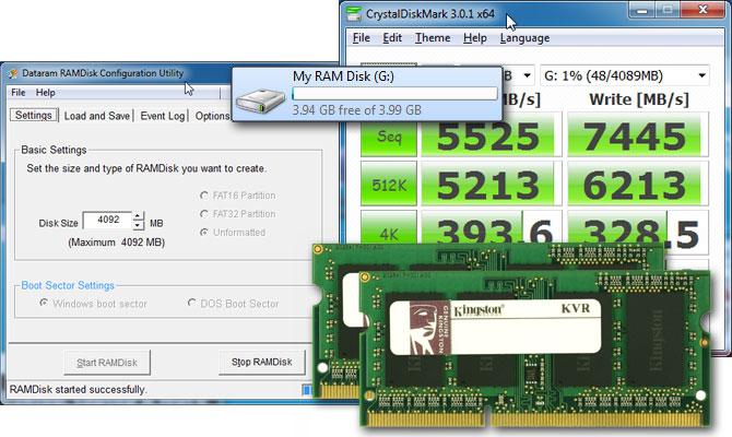 Shfrytëzojeni diskun për të shtuar më tepër RAM
