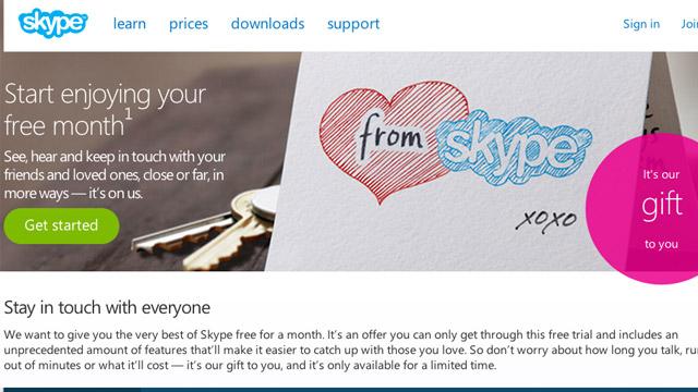 Merrni një muaj pa pagesë për thirrje në mbarë botën me Skype