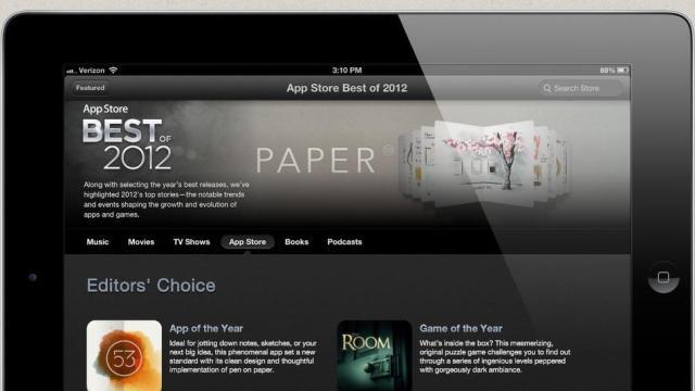 Apple liston aplikacionet më të mira të 2012-s për iPhone dhe iPad