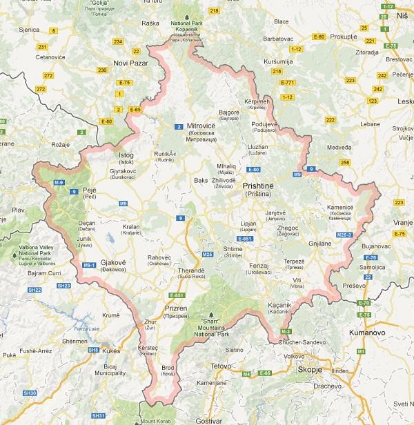 Google Maps njeh Kosovën si shtet