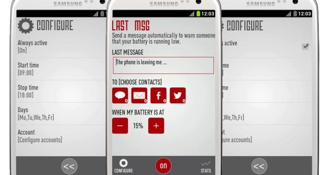 Last Message u dërgon mesazh kontakteve më të rëndësishëm kur telefonit po i bie bateria