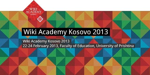 Wiki Academy Kosovo 2013