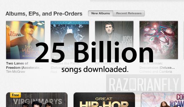 iTunes arrin 25 miliardë këngë të shitura