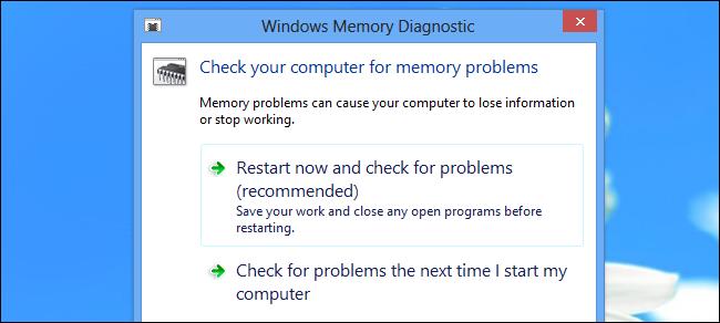 Si të kontrolloni RAM-in për problemet e shfaqura