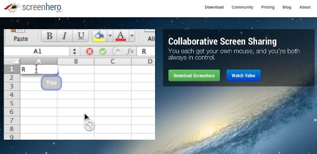 Aplikacioni Screenhero shkëmben ekranin tuaj me të tjerët, secili me nga një kursor