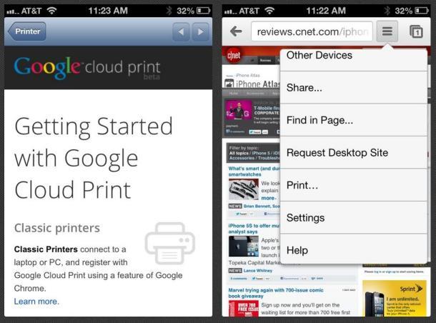 Përditësimi i Chrome për iOS mundëson printim wireless dhe shfletim në ekran të plotë
