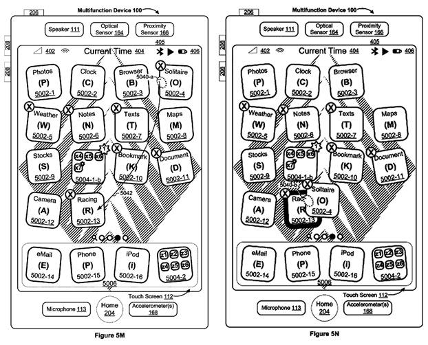 """Apple siguron patentën e """"tundjes"""" së ikonave për zhvendosjen e aplikacioneve kudo në ekran"""