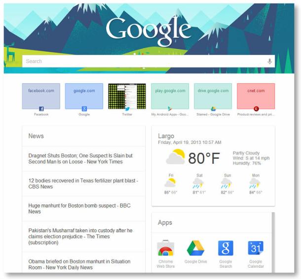 """Stiloni faqet e reja në Google Chrome me """"New Tab Page"""""""