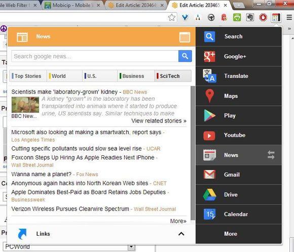 Black Menu: Të gjitha shërbimet e Google në një klikim