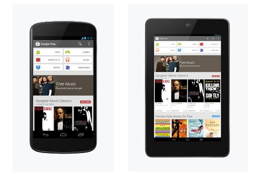 Google Play merr pamje të re