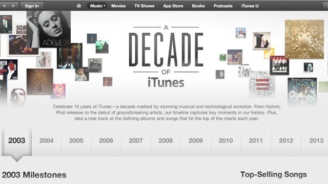 iTunes feston 10-vjetorin e lançimit