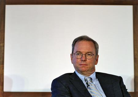 Google Executive Chairman Eric Schmidt attends a function on catalysing tech Start-ups in India by NASSCOM, in New Delhi