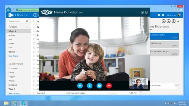 Skype tani iu mundëson telefonata direkt nga kutia e mesazheve në Outlook.com