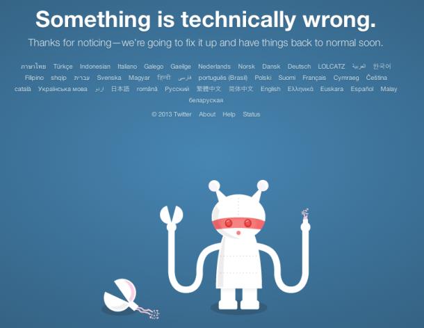 Lidhjet në Twitter u ndërprenë përkohësisht gjatë ditës së enjte