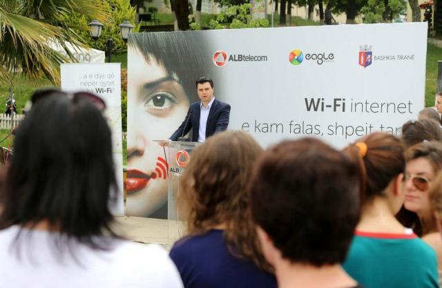 ALBtelecom&Eagle Mobile do të ofrojë për abonentët e vet internet falas në 15 pika të Tiranës