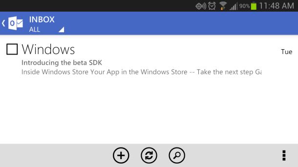 Si të shtoni disa llogari në aplikacionin e ri për Android Outlook.com