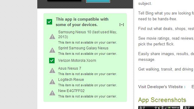 Google Play ju tregon se përse një aplikacion nuk është i përshtatshëm për pajisjen tuaj