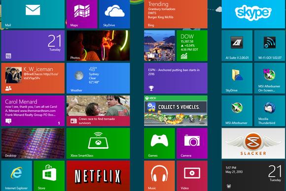 Sipas një studimi aplikacionet e Windows 8 përdoren shumë rrallë